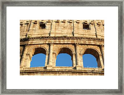 Colosseum In Rome Framed Print by George Atsametakis