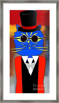 Cool Cat Framed Print by Marvin Blaine
