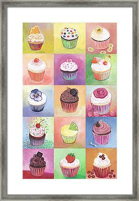 15 Cupcakes Framed Print by Jennifer Lommers