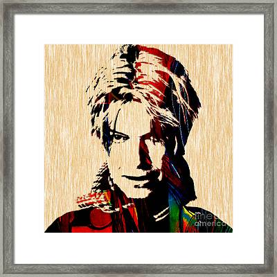 David Bowie Collection Framed Print by Marvin Blaine