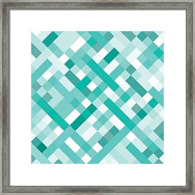 Geometric Framed Print by Mike Taylor