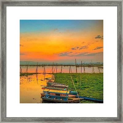 #goodmorning #morning #day #daytime Framed Print