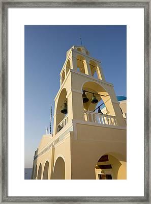 Greece, Santorini, Thira, Oia Framed Print by Jaynes Gallery