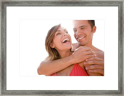 Happy Couple Framed Print by Ian Hooton/science Photo Library