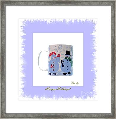 Happy Holidays. Framed Print by Oksana Semenchenko