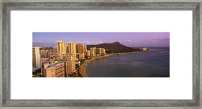 High Angle View Of Buildings Framed Print