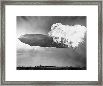 Hindenburg Disaster Framed Print by Us Navy