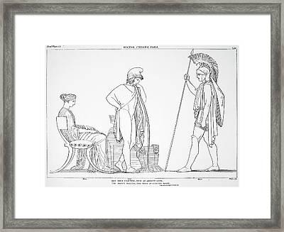 Homer The Iliad Framed Print by Granger