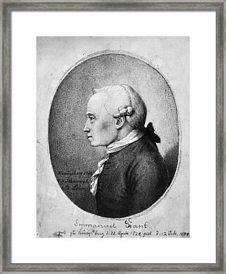 Immanuel Kant (1724-1804) Framed Print by Granger
