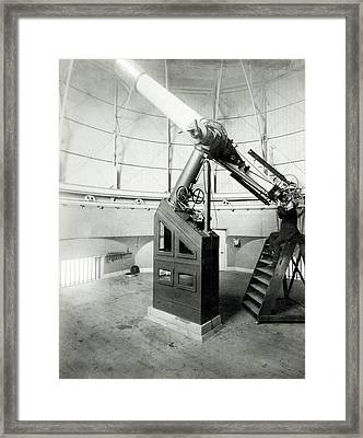 15-inch Telescope Framed Print by Royal Astronomical Society