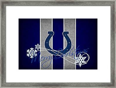 Indianapolis Colts Framed Print by Joe Hamilton