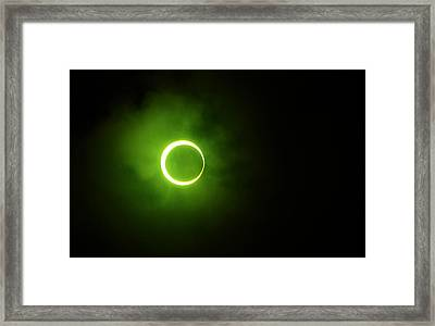 15 January 2010 Solar Eclipse Maldives Framed Print