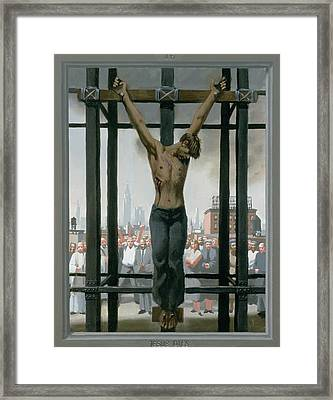 15. Jesus Dies / From The Passion Of Christ - A Gay Vision Framed Print by Douglas Blanchard