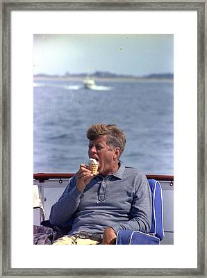 John F Framed Print by Granger