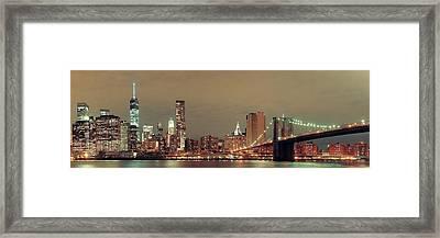 Manhattan Downtown Framed Print by Songquan Deng
