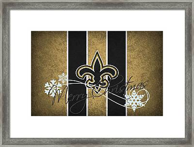 New Orleans Saints Framed Print by Joe Hamilton