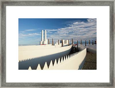 Parts For The Walney Offshore Wind Farm Framed Print