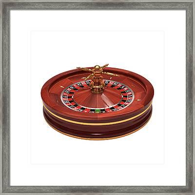 Roulette Wheel Framed Print by Ktsdesign