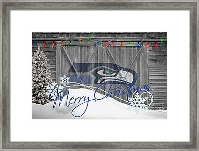 Seattle Seahawks Framed Print by Joe Hamilton