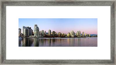 Skyscrapers At The Waterfront Framed Print