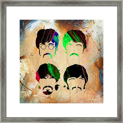 The Beatles Collection Framed Print by Marvin Blaine