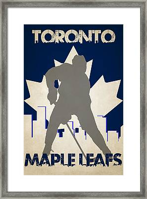 Toronto Maple Leafs Framed Print by Joe Hamilton