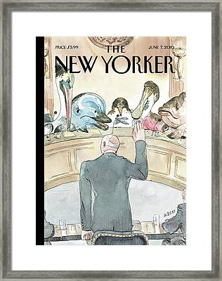 New Yorker June 7th, 2010 Framed Print by Barry Blitt