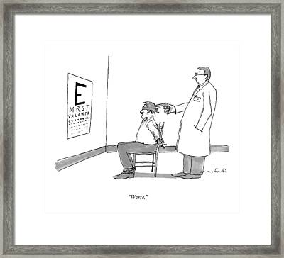 Worse Framed Print by Michael Crawford
