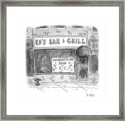 New Yorker November 14th, 2016 Framed Print by Roz Chast