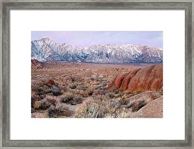 Usa, California, Lone Pine Framed Print by Jaynes Gallery