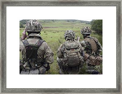 Welsh Guards Training Framed Print by Andrew Chittock
