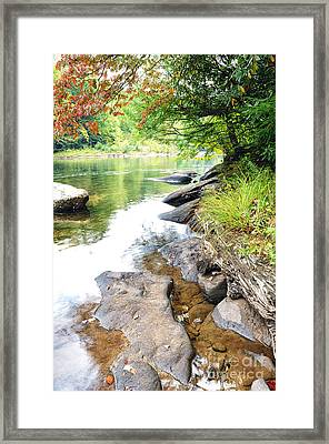 Williams River Autumn Framed Print by Thomas R Fletcher