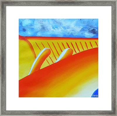 150  'orange Flame' Framed Print by Gregory Otvos