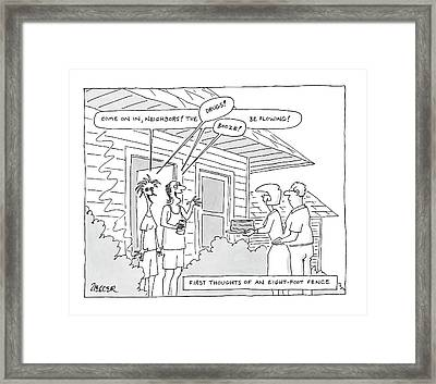 New Yorker May 28th, 2007 Framed Print by Jack Ziegler