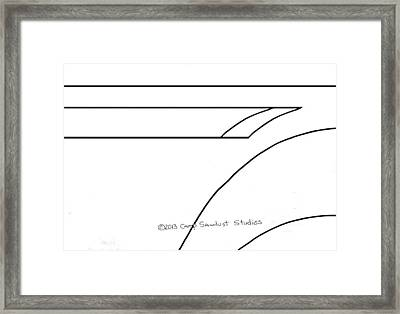 153-ls  'c-two Spear' Framed Print by Gregory Otvos