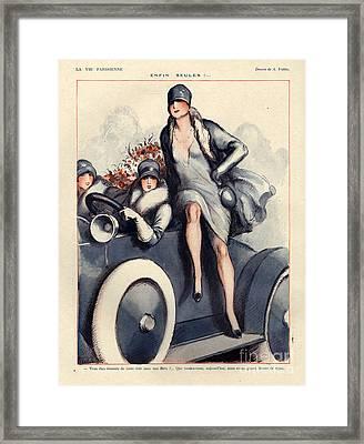 1920s France La Vie Parisienne Magazine Framed Print