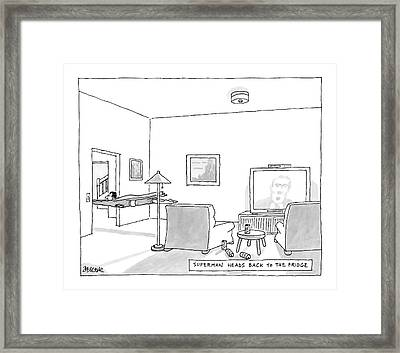 New Yorker August 20th, 2007 Framed Print by Jack Ziegler