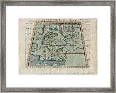 1597 Ptolemy  Magini  Keschedt Map Of Pakistan Iran And Afghanistan Framed Print by Paul Fearn