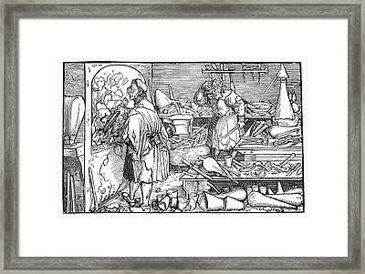 15th Century Alchemist's Laboratory Framed Print by Cci Archives