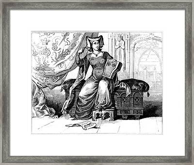 15th Century British Dress Framed Print by Collection Abecasis