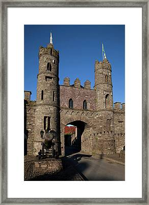 15th Century Castle In The Market Framed Print