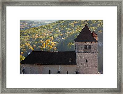 15th Century Church At St-cirq-lapopie Framed Print by Panoramic Images