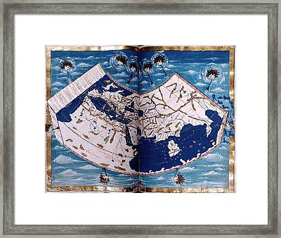 15th Century Map Framed Print