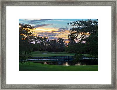 15th Green At Hollybrook Framed Print