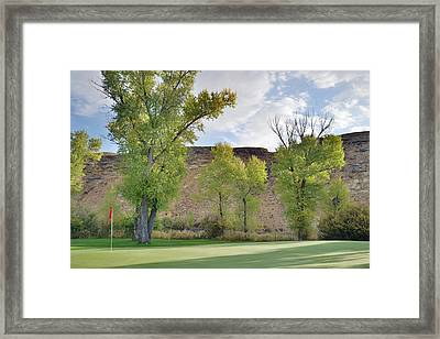 15th Green Morning Framed Print