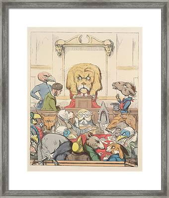 Aesop Fables Framed Print by British Library