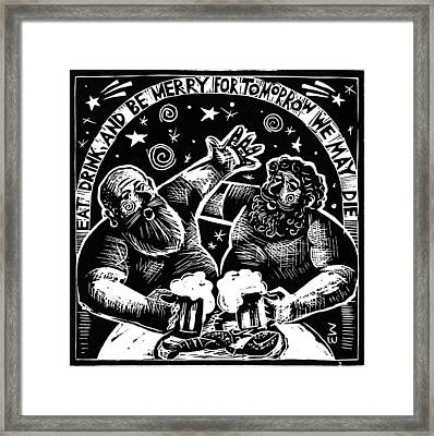 Framed Print featuring the drawing American  Proverbs by Mikhail Zarovny
