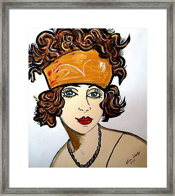 Art Deco  Hilda Framed Print