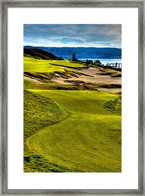 #16 At Chambers Bay Golf Course - Location Of The 2015 U.s. Open Tournament Framed Print