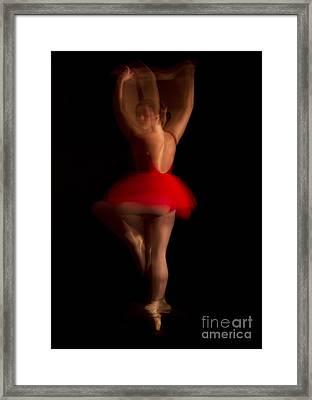 Ballet Dancer In Red Tutu Framed Print